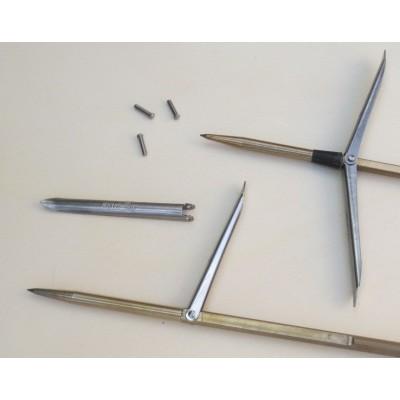 Perno/Ribattino montaggio alette su aste da 6 a 8 mm